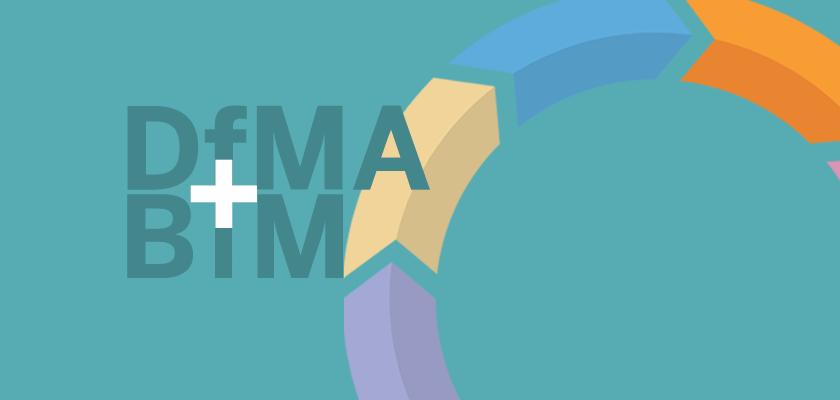 DfMA + BIM logo with cycle graphic