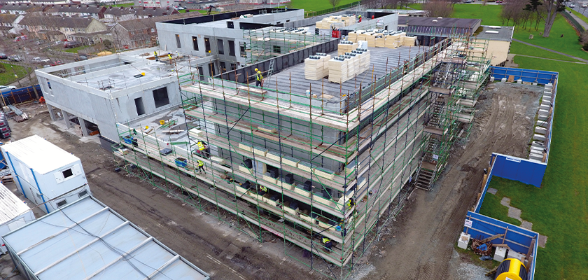 Aerial view of Primary Care Facility in Dublin under construction