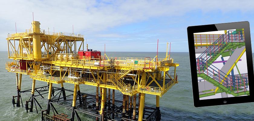 Leman Delta gas platform in North Sea after completion of de-complexing