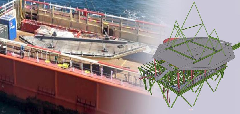 Removal of the West helideck during Leman Delta Platform de-complexing