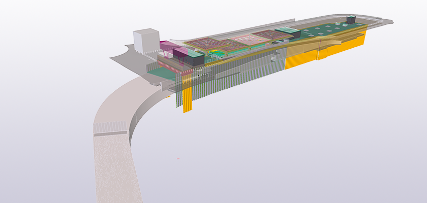 Tekla Structures model with imported reference model