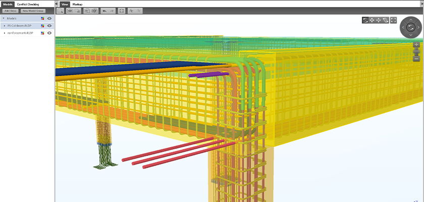 Conflict checking the Parkway model using Tekla BIMsight