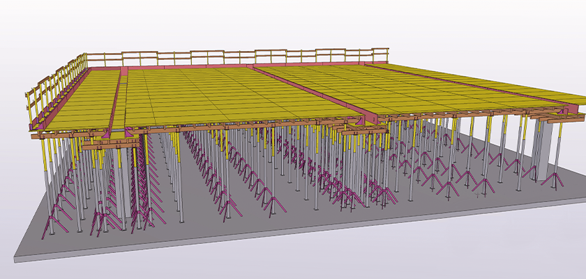 Tekla Structures model of cast in place formwork