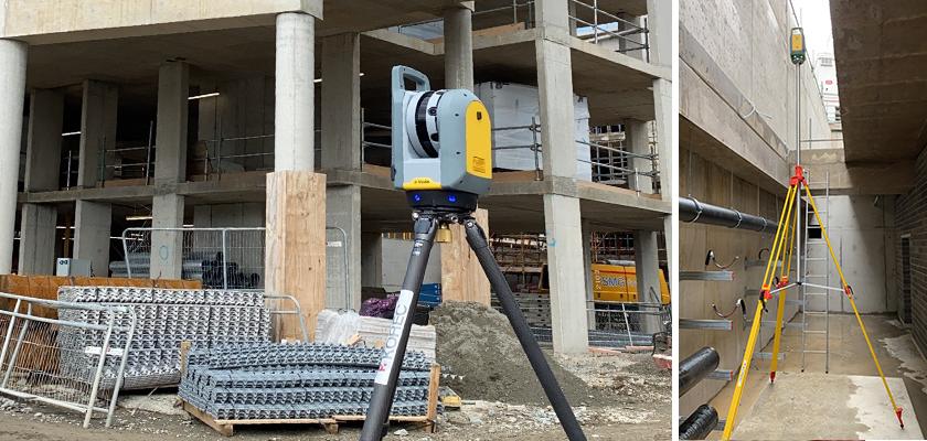 Trimble X7 scanner on site