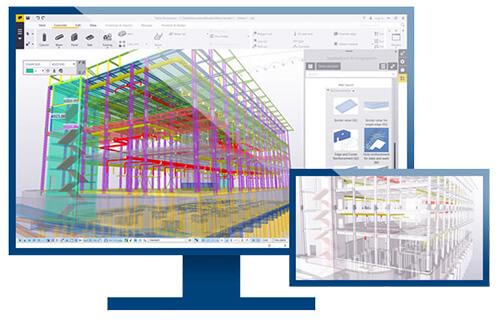 Tekla-BIM-Lösungen in der Anwendung. Das digitale Gebäudmodell befindet sich stets auf dem aktuellen Planungsstand.