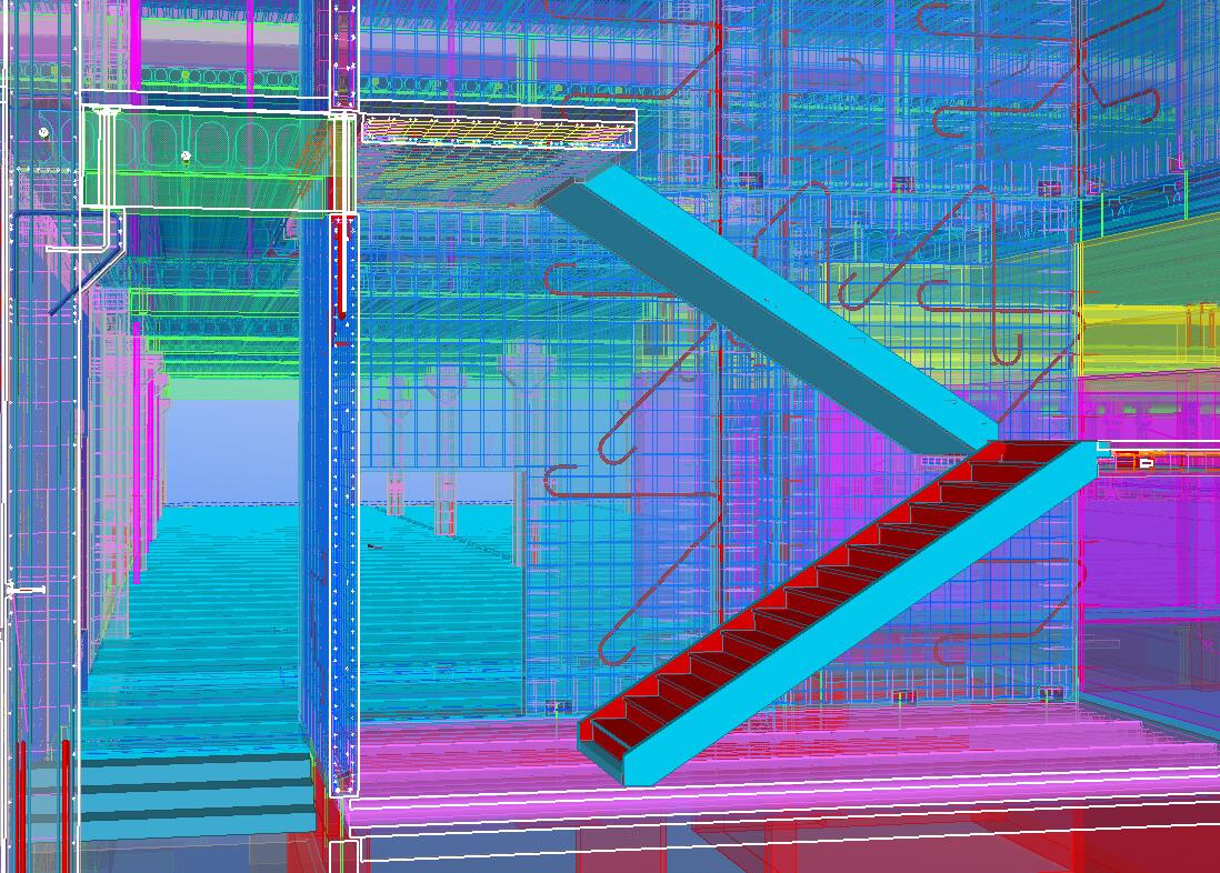Detail-Ansicht des 3D-Modells.
