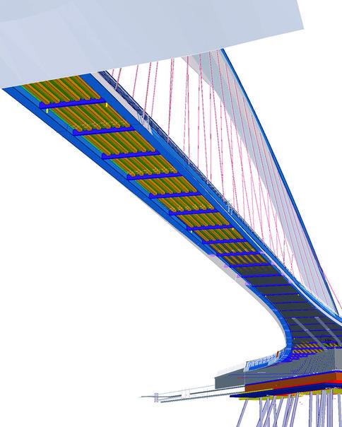 Das BIM-Modell der Isoisä-Brücke kam gezielt bei Entwurf, Fertigung und Montage zum Einsatz.