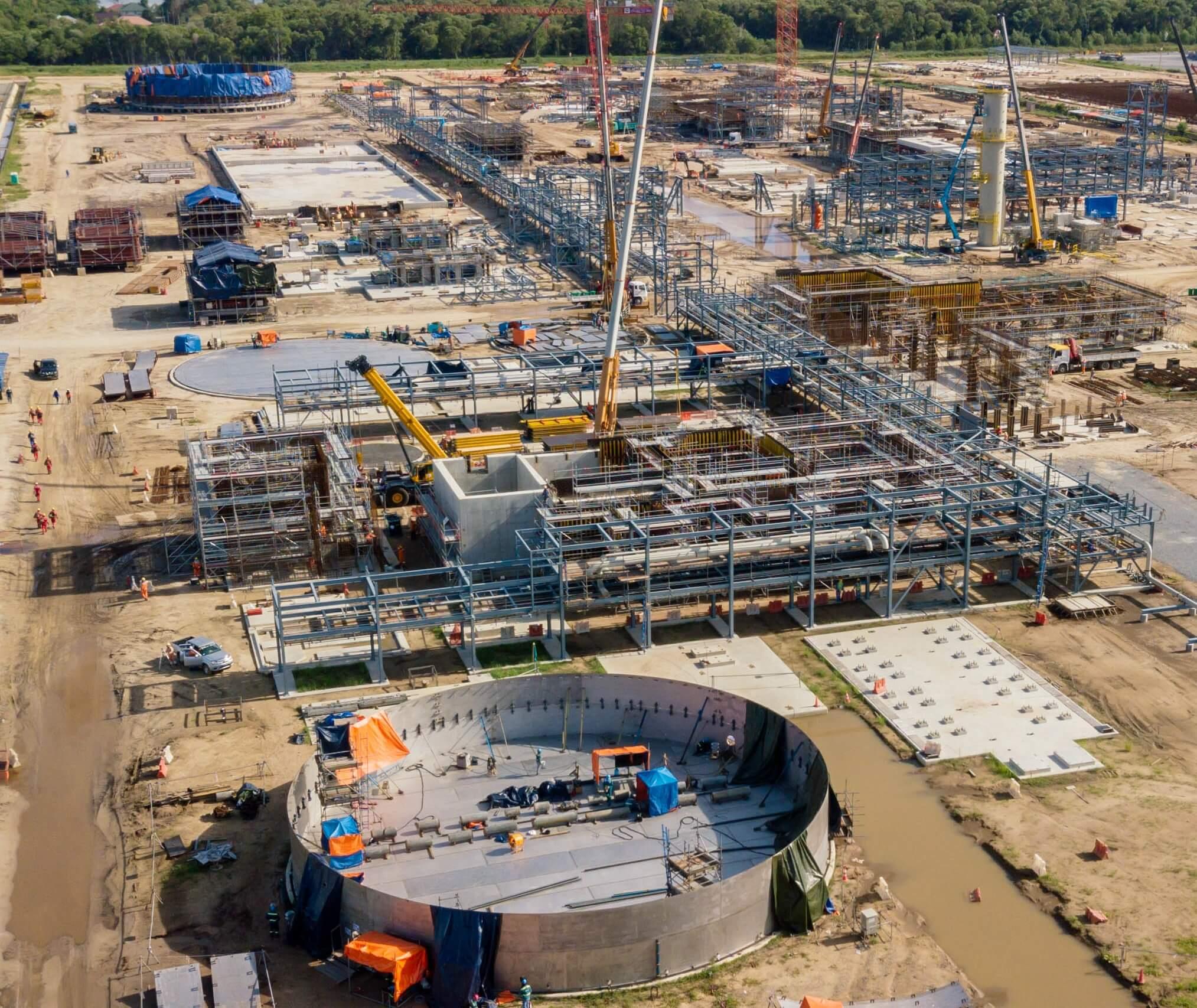 Der Startschuss für den Bau des Düngemittelkomplexes im Sungai Liang Industrial Park fiel im Oktober 2018.
