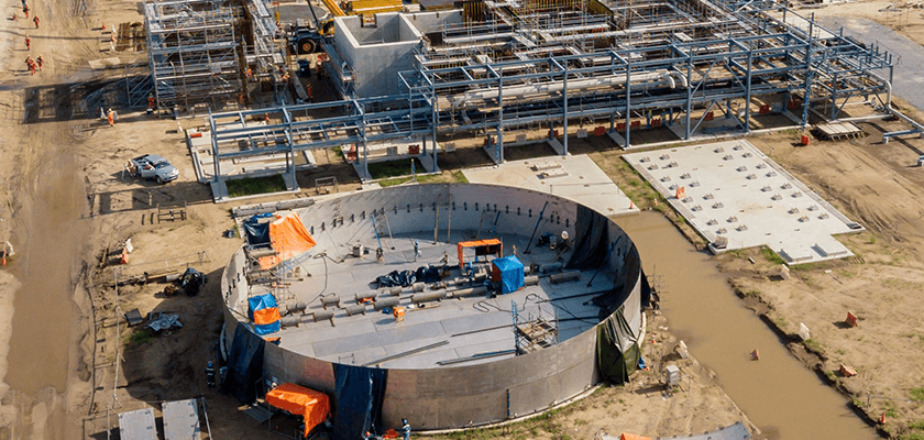 Beim Bau der Düngemittelanlage in Brunei setzt thyssenkrupp auf Tekla Structures und Tekla Model Sharing.