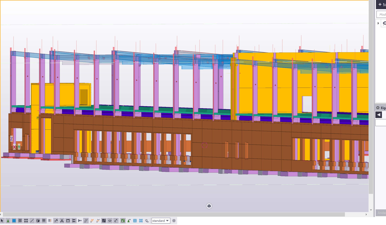 Uhlir und Jansen sowie externe Projektpartner arbeiteten mithilfe von Tekla Software gleichzeitig am selben Modell.