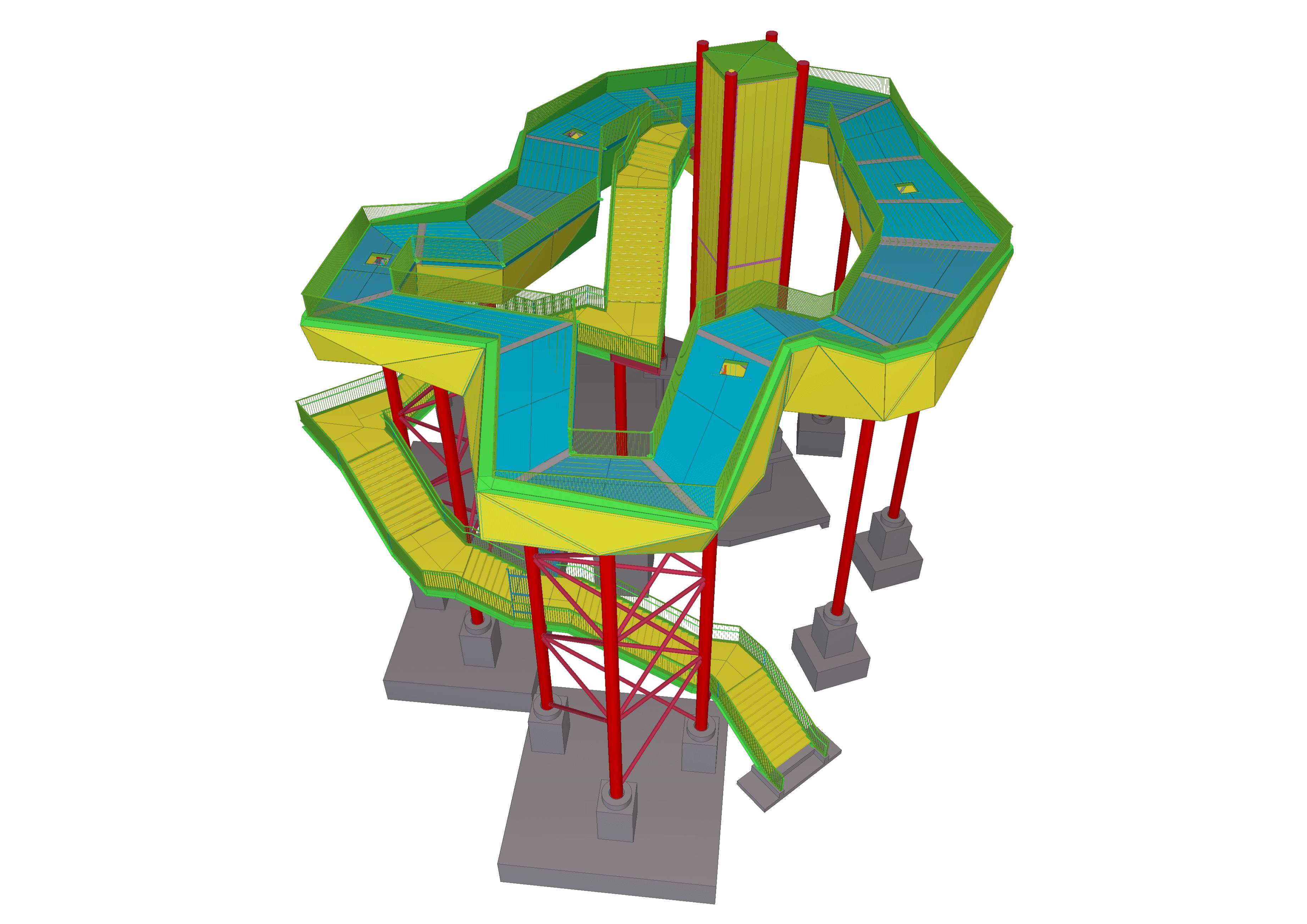 Das Tekla-Structures-Modell als zentrales BIM-Modell für alle nachfolgenden Gewerke.