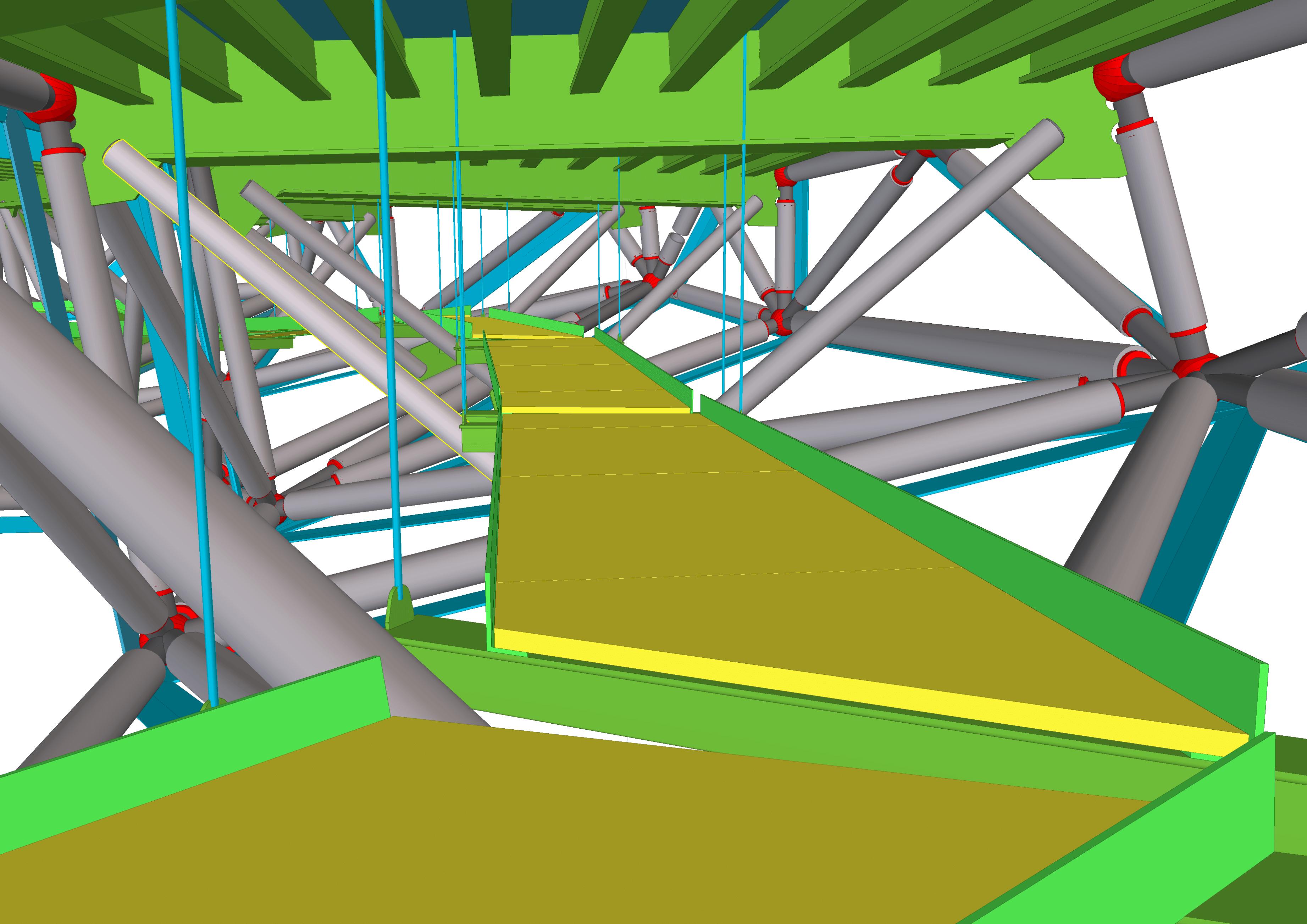 Dank 3D-Planung in Tekla Structures konnte das Projekt erfolgreich umgesetzt werden.