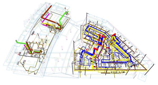 Die Koordination mit der Haustechnik wurde durch das Tekla-3D-Modell deutlich vereinfacht.