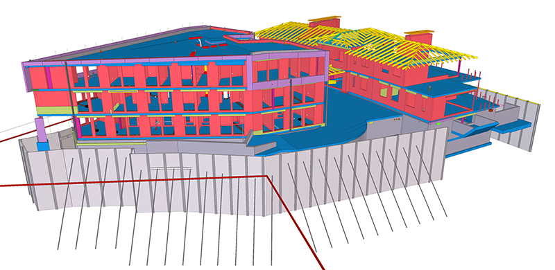 """Beim Projekt """"Bad Bramstedt"""" wurden die Schal- und Bewehrungsplanung sowie der BIM-Prozess mit Tekla Structures erprobt."""