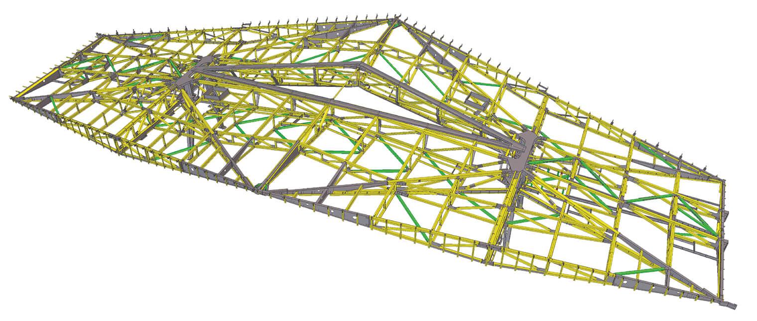 Jedes der 14 Dachelemente des Bahnhofs verfügt über eine einzigartige Struktur.
