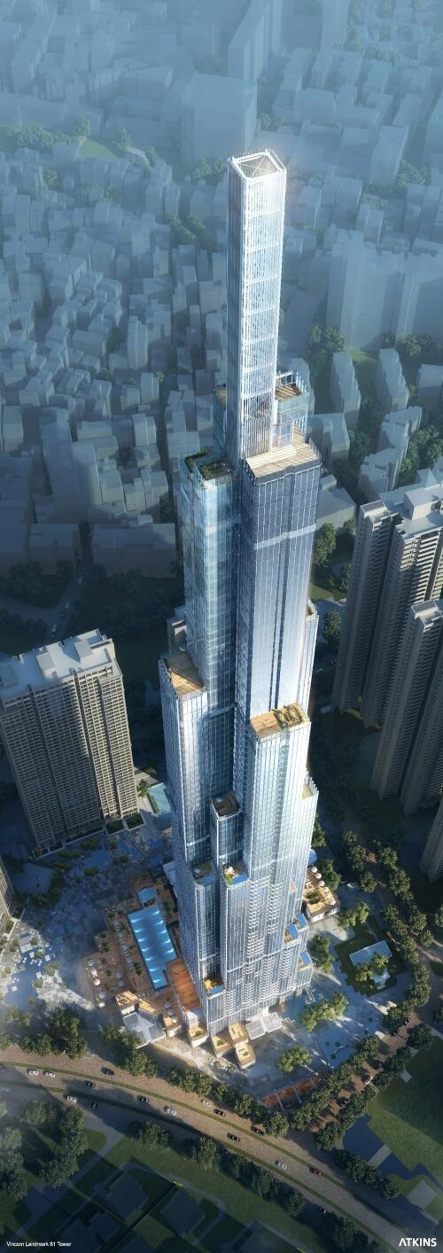 Der Wolkenkratzer hat eine Gesamthöhe von 461 Metern und ist das höchste Gebäude in Südostasien.