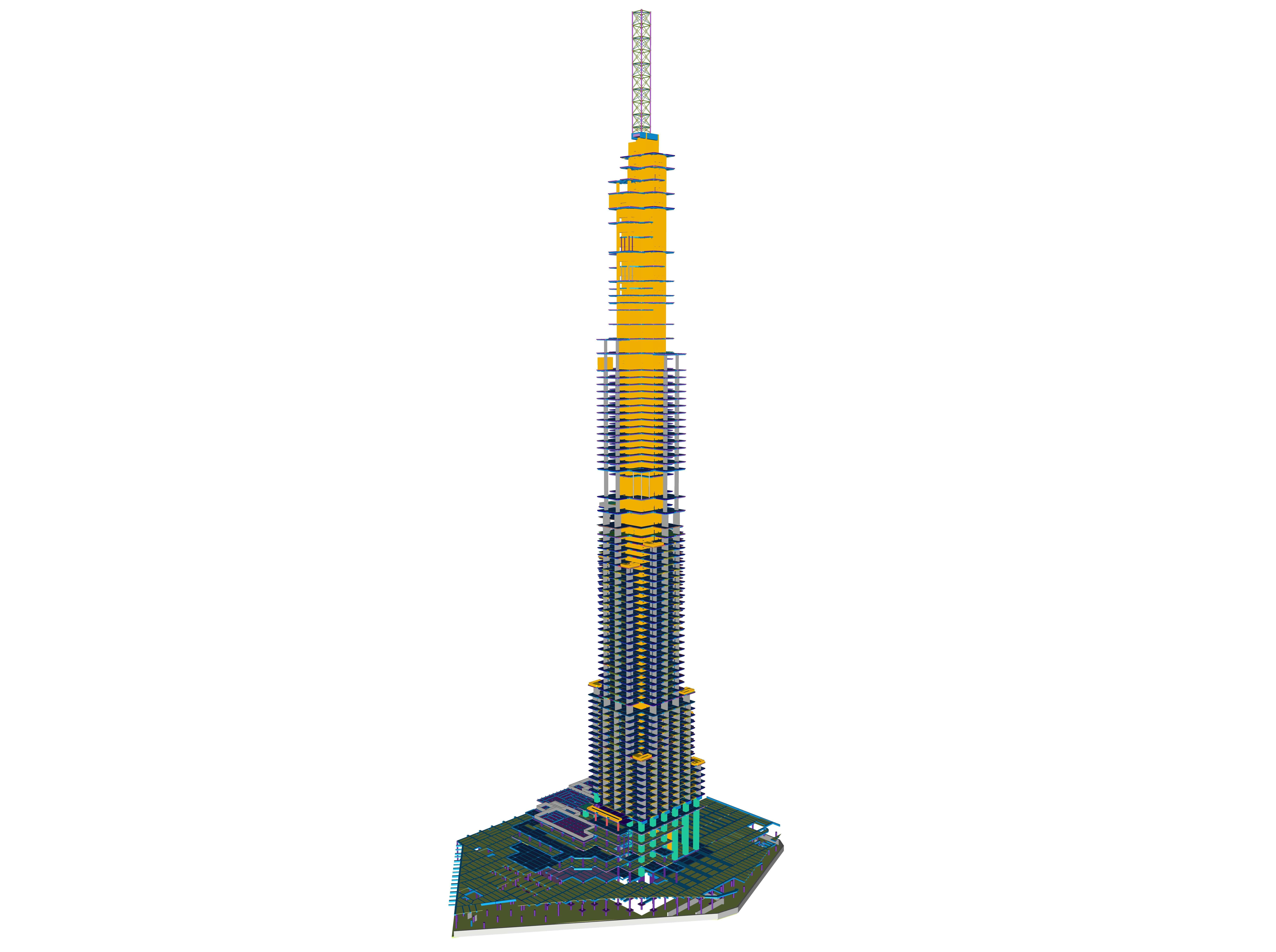 Mit 81 Stockwerken und 3 Untergeschossen ist es das 14. höchste Gebäude der Welt.