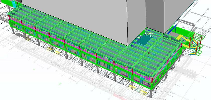 Beim Umbau des Marienhospital Stuttgart setzt Boll und Partner auf Tekla Structures.