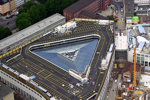 Dank effizienter Planung mit der BIM-Software Tekla Structures konnte der Stahlbau für die Dächer termingerecht geliefert werden.