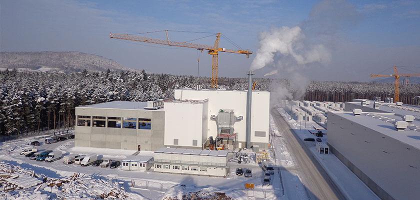 Beim Projekt Heizkraftwerk Sengenthal war Max Bögl für Planung und Ausführung verantwortlich.