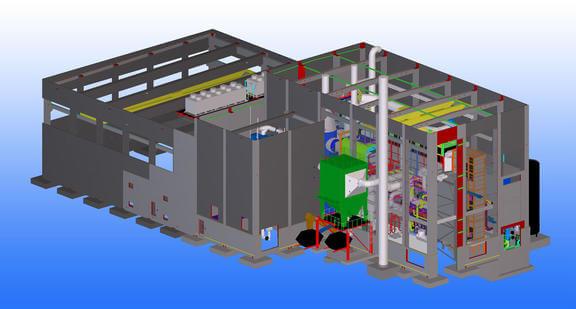 Für die Planung von Stahlbau, Betonfertigteilen und Ortbeton des Heizkraftwerks Sengenthal entschied sich Max Bögl für Tekla Structures.