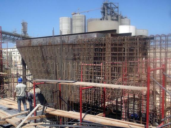 Die Zementmahlanlage wurde vollständig mit Tekla Structures entworfen.