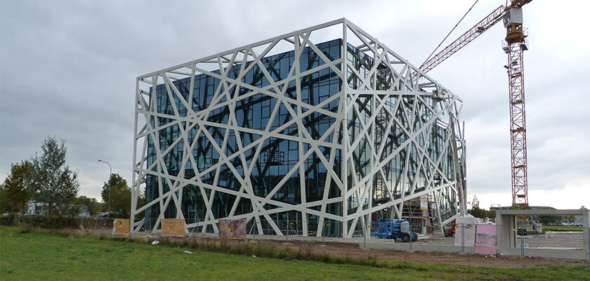 Für den Bau des Bürogebäudes Qbig setzte Vorndran Metallbau die BIM-Software Tekla Structures ein.