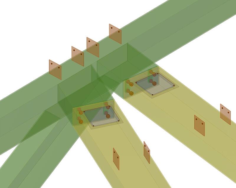 Projekt Qbig: Detailansicht der Stahlkonstruktion