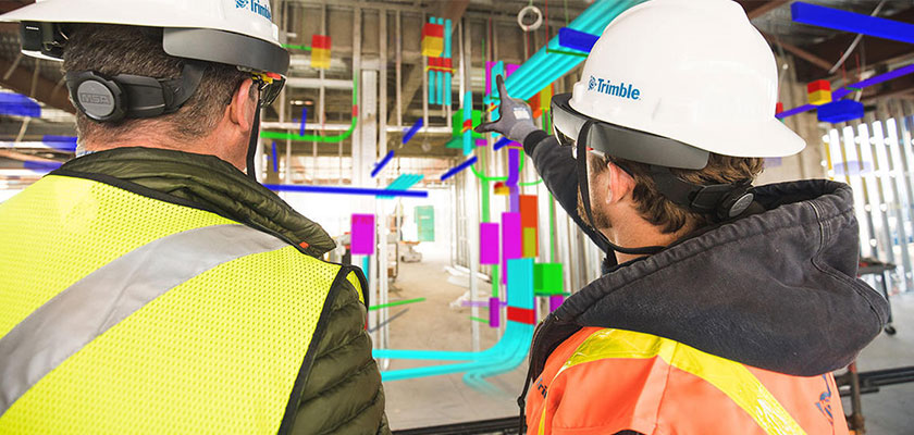 Trimble bietet ein weites Spektrum an Mixed-Reality-Lösungen.