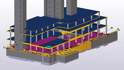 3D-Rohbaumodell in Tekla Structures