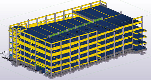 3D-Modell in Tekla Structures
