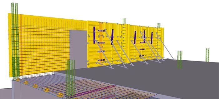 Schalungsplanung in Tekla Structures