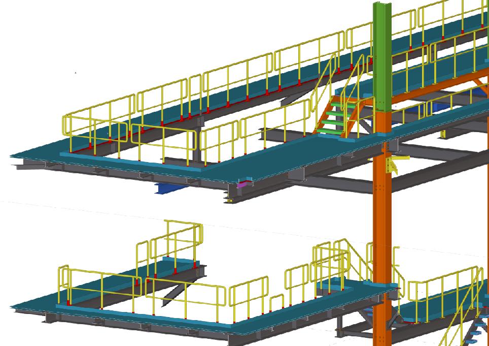 3D-Stahlbau-Details der Bioöl-Anlage