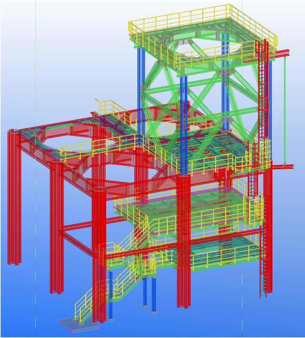 Ingenieurbüro Kapitanov: Erweiterung einer Unterkonstruktion für Silo-Anlagen