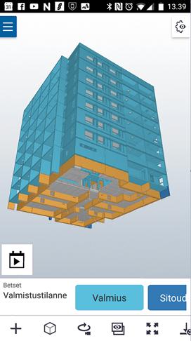 Mobile Ansicht des 3D-Modells in Trimble Connect