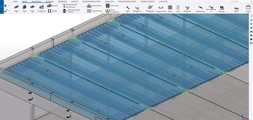 Goldbeck nutzt Tekla Structures für die modellbasierte Konstruktion von Betonfertigteilen.