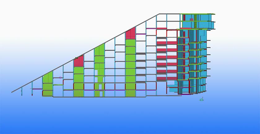 Projekt 8-tallet von Oltmanns & Partner in Tekla Structures