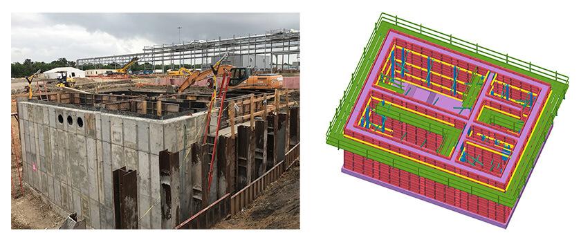 Bauunternehmen UCI nutzt Tekla Structures, um ausführungsreife Modelle des Rohbaus für seine Projektabwicklung zu erstellen.