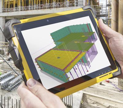 Die Mitarbeiter können die Modelle direkt auf der Baustelle auf ihrem iPad aus allen Blickwinkeln betrachten.