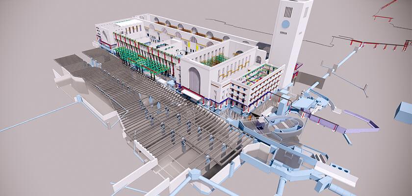 15 Jahre BIM: Ingenieurbüro Boll und Partner setzt auch beim Umbau des historischen Bonatzbaus auf Tekla Structures