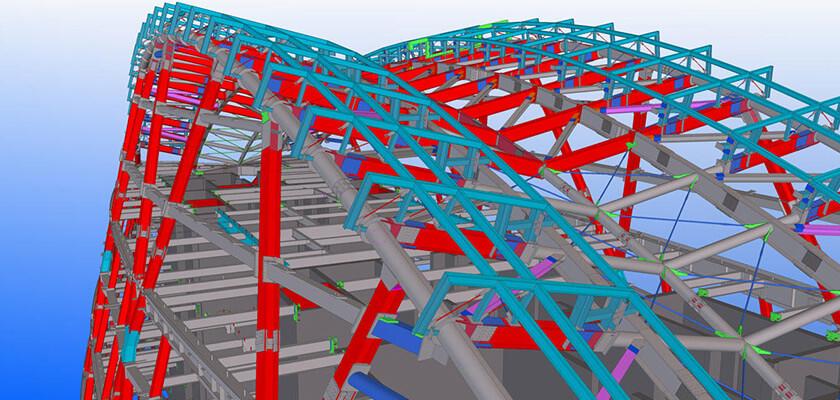 Aldar Headquarters: Stahlbau-Modell in Tekla Structures