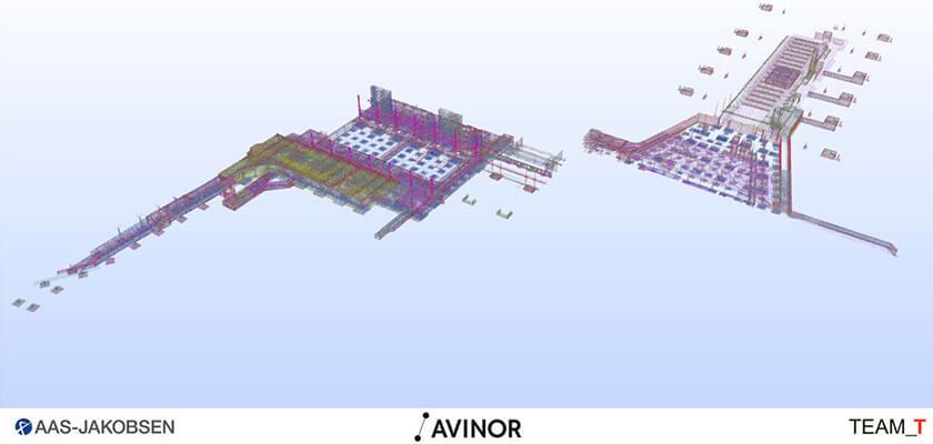 Projekt Gardermoen: Modell der Bewehrungen des Terminals 2