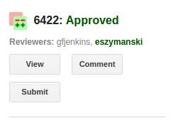 Gerrit Gmail Plugin - Status Approved