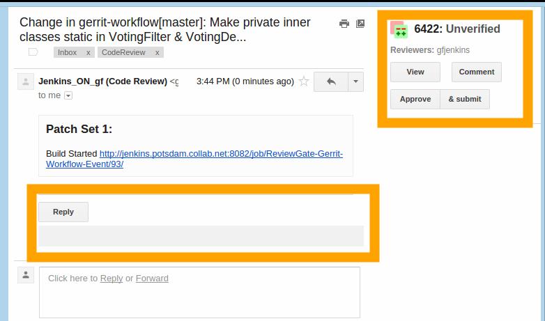 Gerrit Email Plugin - Overview