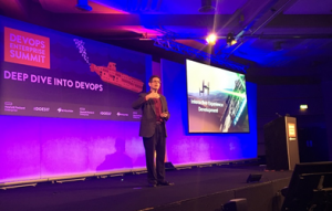 Jason Cox, director of systems engineering at Disney speaks at DOES17.