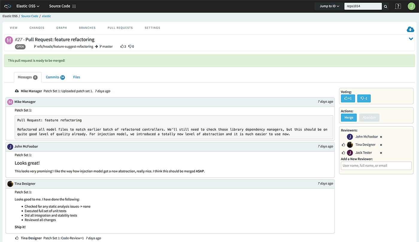 Open Pull Request with Comments-2
