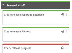 Create release tasks