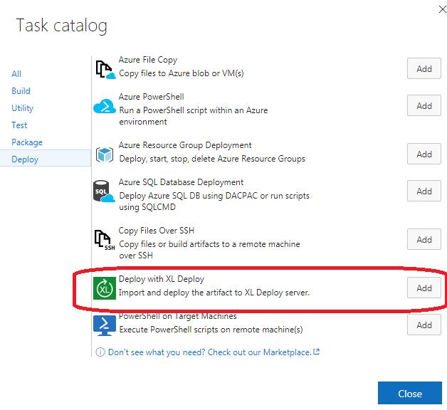 Microsoft TFS/VSTS plugin for XL Deploy