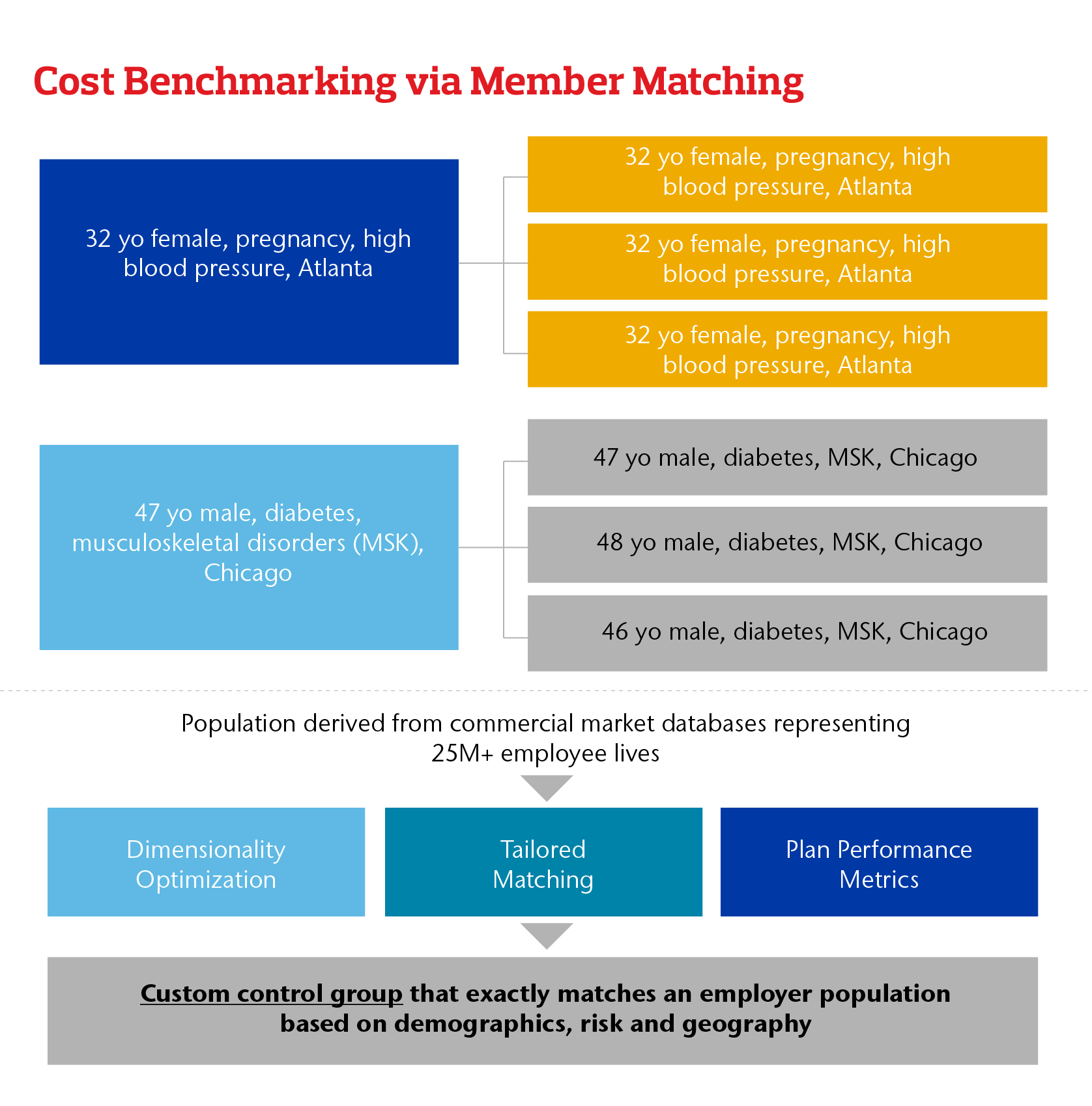 Cost Benchmarking via Member Matching Chart