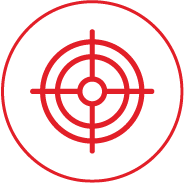 Target and personalize communications icon